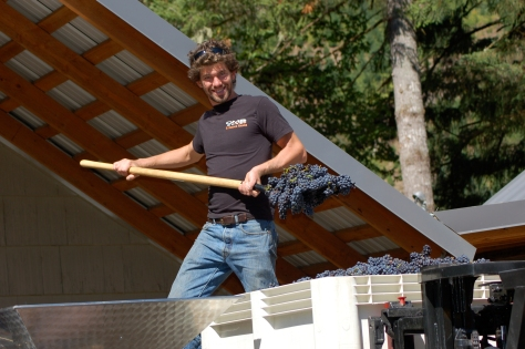 Nathan, from St. Helena, California, who is our winemaker and manages our vineyard crew.
