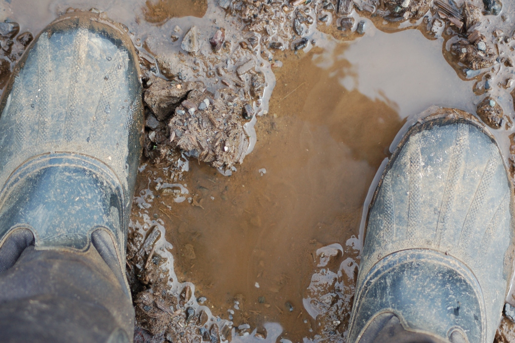 "This is why they're called ""Muck Boots."""