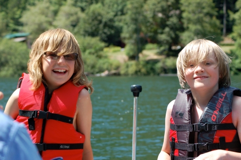 Boating with the nephews on The Umpqua River.