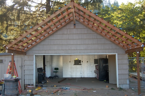 The garage, midway through its conversion into our winery.