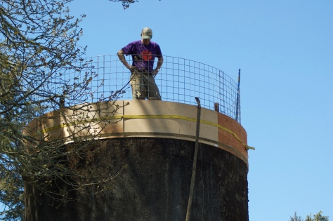 Meantime, Bob is working on several design ideas for a staircase to the top as well as for a gazebo to place up there.